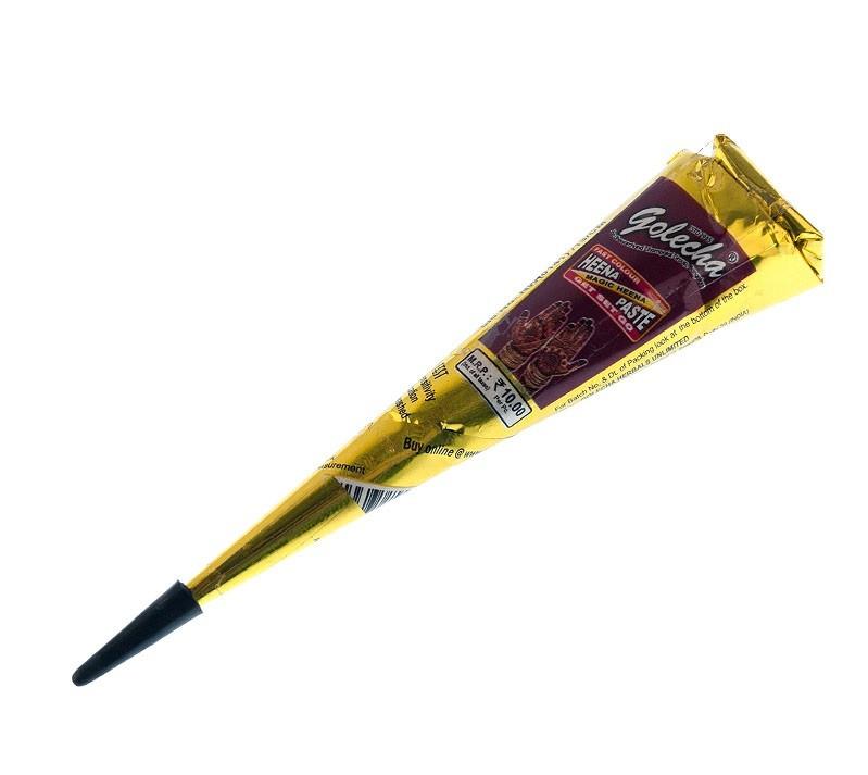Хна в конусе коричневая TM Golecha 25мл