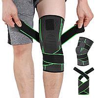 Качественный наколенник компрессионный, бандаж для фиксации колена, коленный бандаж, наколенник на липучках