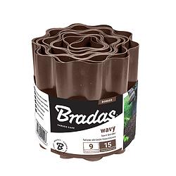 Бордюр пластиковый волнистый, 9м*10см, коричневый, OBFB 0910