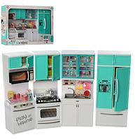 Кухня для кукол типа Барби 4 секции с холодильником 26211