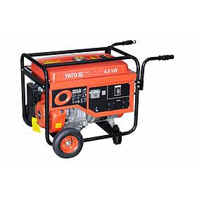 Бензиновый генератор 220В., 4 кВт., бак 25л., YATO YT-85437