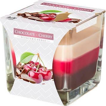 """Свічка з ароматом """"Bispol"""" snk80-104 8х8х8см h-32см шоколад/вишня(6)"""
