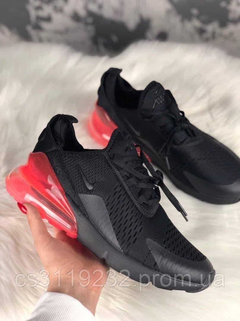 Мужские кроссовки Nike Air Max 270  Black Hot Punch (черные)