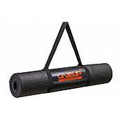 Килимок для йоги LiveUp Yoga Mat Total Black Limited Edition