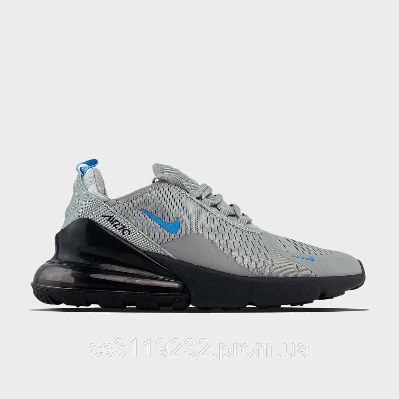Мужские кроссовки  Nike Air Max 270 Cool Grey Blue Fury (серые)