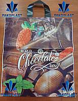 """Полиэтиленовый пакет """"петля"""" 40х43 Шоколад (50 шт)"""