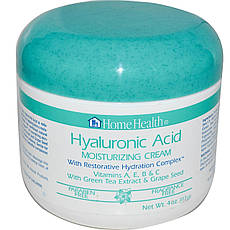 Home Health, Гіалуронова кислота, зволожуючий крем з відновлювальним гидратирующим комплексом, 113 г (4
