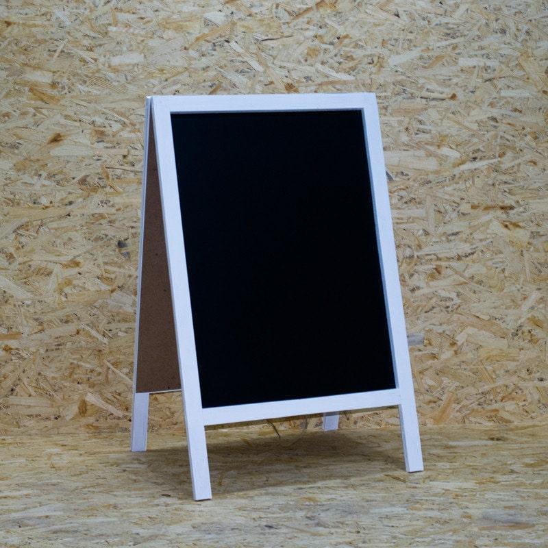 Меловой штендер Большой 1240 х 780 мм рекламный мимоход для оформления мелом, маркером цвет: Белый