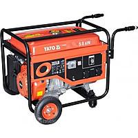 Бензиновий генератор 220В., 5,0 кВт., бак 25л., YATO YT-85440