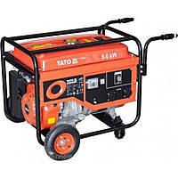 Бензиновий генератор 220В., 5,0 кВт., бак 25л., YATO YT-85440, фото 2