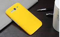 Пластиковый чехол для Alcatel One Touch Pop C9 желтый