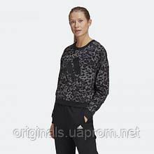 Женский свитшот adidas adidas Sportswear Leopard-Print GP7355 2021