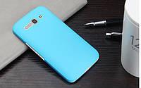 Пластиковый чехол для Alcatel One Touch Pop C9 голубой