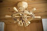Люстра штурвал деревянная на 1 лампочку, фото 9