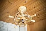 Люстра штурвал деревянная на 1 лампочку, фото 8