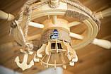 Люстра штурвал деревянная на 1 лампочку, фото 10
