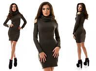 Тёплое платье с хомутом