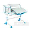 Комплект для школяра парта FunDesk Amare II Blue + ортопедичне крісло FunDesk Delizia Blue, фото 3