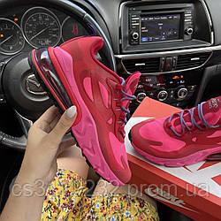 Женские кроссовки Nike Air Max 270 React Coral Pink (оранжево-розовые)