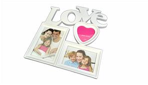 Фотоколлаж на 3 фото Любовь