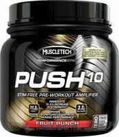 Muscletech®	Предтреники	MT Push 10 Pre-Workout, Performance Series, 500 gr