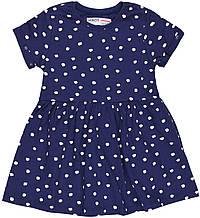Детское темно-синее платье для девочки 12-18 месяцев, 80-86 см