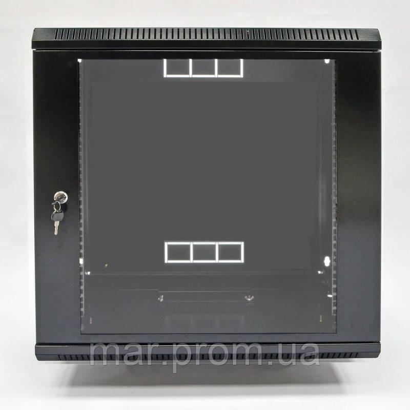 Шкаф 12U, 600х500х640 мм (Ш * Г * В), акриловое стекло, чёрный