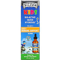 Sovereign Silver, Bio-Active Silver Hydrosol, для дітей, щоденна підтримка імунітету, 10 ч/млн, 59 мл (2