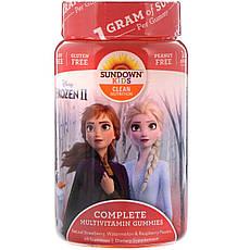 Sundown Naturals Kids, Жувальні цукерки з мультивітамінами, «Холодне серце 2» Disney, зі смаком полуниці,