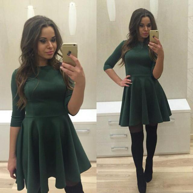 Купить расклешенное трикотажное платье