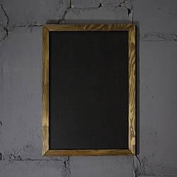 Меловая доска в рамке вертикально 1000х1500 мм Меню для кафе, заведения. Рекламное меню, меловая доска меню