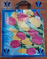 """Пакет Полиэтиленовый """"петля"""" 40х42 Тюльпаны"""