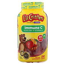 L il Critters, Immune C з цинком і вітаміном D, 190 жувальних цукерок