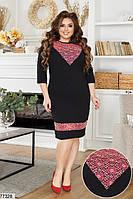 Ошатне жіноча сукня-футляр з гипюровыми вставками з 50 по 58 розмір, фото 2