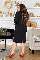 Ошатне жіноча сукня-футляр з гипюровыми вставками з 50 по 58 розмір, фото 3