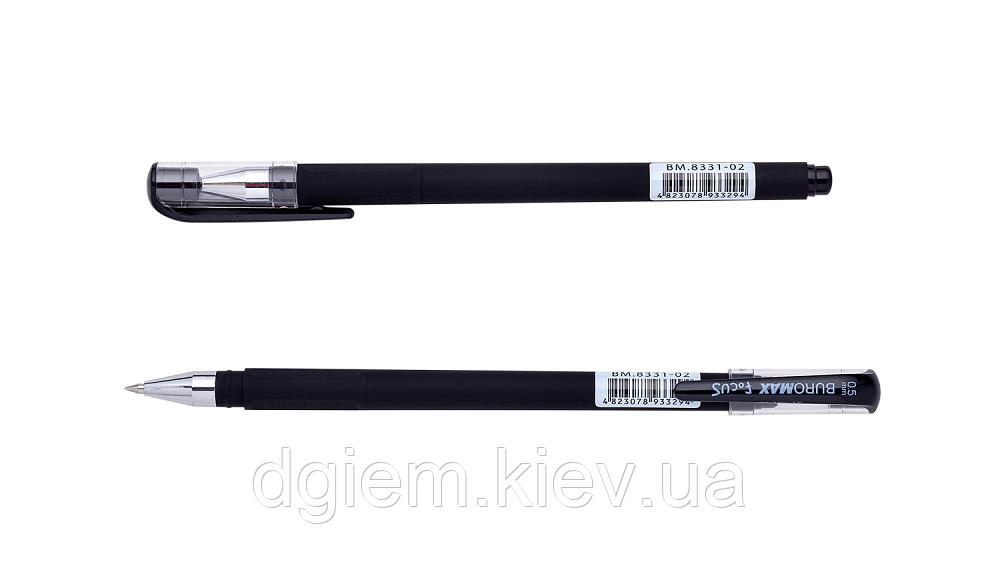 Ручка гелевая FOCUS, RUBBER TOUCH 0,5мм черная