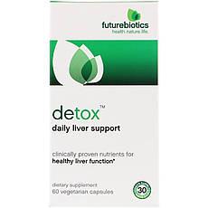 FutureBiotics, Detox, щоденна підтримка печінки, 60 капсул вегетаріанських