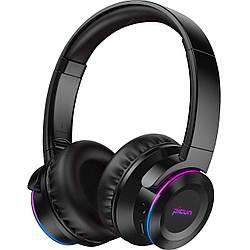 Бездротові Bluetooth-навушники Picun B9 з функцією плеєра і RGB підсвіткою Black