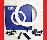 Кільцева LED лампа YQ-460B 45см 220V 3 крепл.тел. + пульт