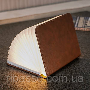 "Светильник-книга ""Smart Book"", натуральная кожа Gingko GK12L2"