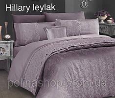 """ОРИГИНАЛ! ТУРЦИЯ! Комплект постельного белья ALTINBASAK Сатин с гипюром """"Hillary leylak"""" Евро"""