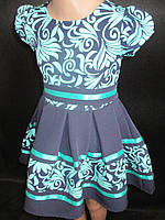 Красивые детские платья с коротким рукавом.
