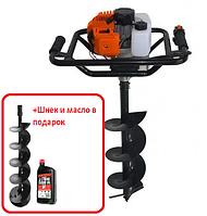 Мотобур Энергомаш МБ-1530А, 1250Вт Шнет 200мм и масло