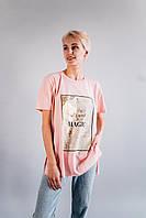 Стильная футболка CR-0026-PNK