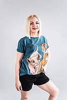 Стильная футболка CR-0033-BLU