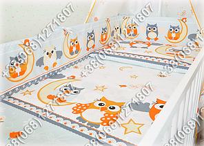 """Детское постельное белье в кроватку """"Бим Бом"""" комплект 5 ед. (сова серый), фото 2"""