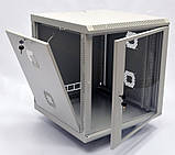 Шкаф 18U, 600х600х907 мм (Ш * Г * В), акриловое стекло, серый, фото 2