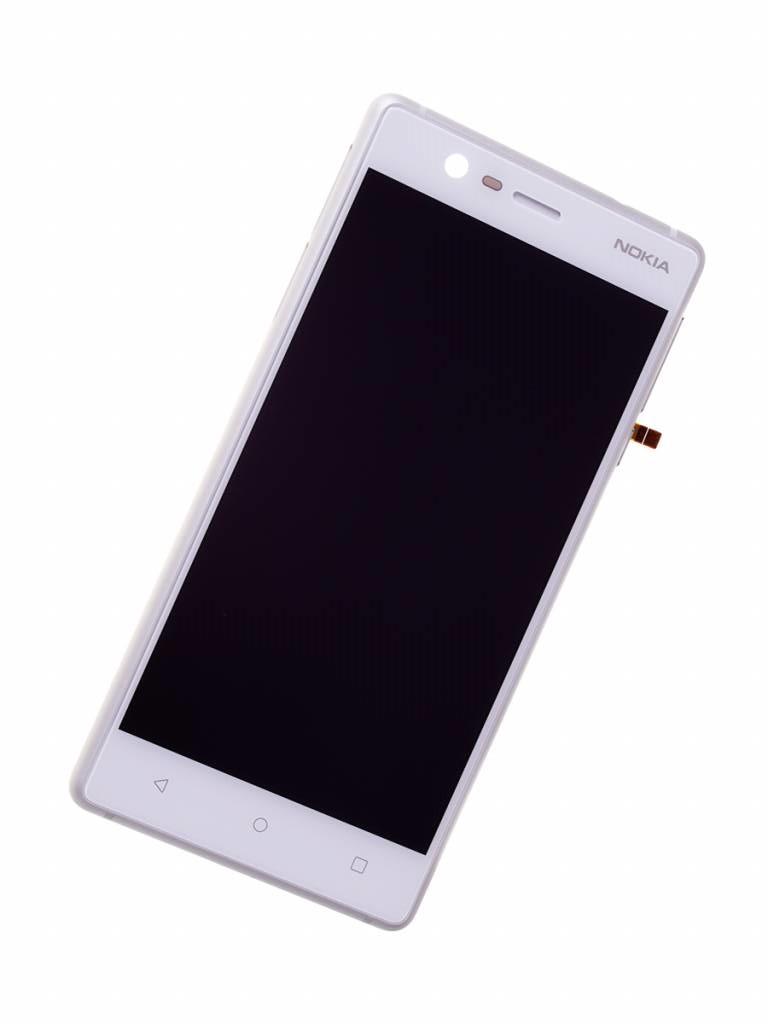 Дисплей для Nokia 3 | TA-1020 | TA-1028 | TA-1032  с тачскрином и рамкой, белый