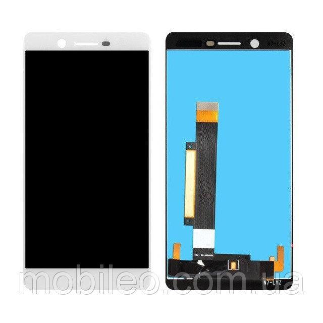 Дисплей для Nokia 7 Dual Sim з тачскріном, білий