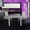 Стол кухонный раскладной со стеклом Сан-Марино / БИФОРМЕР